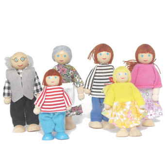 Harga HengSong Joint Hands Feet Moving Modelling changeable situation doll wooden doll With 6 PCS - Intl