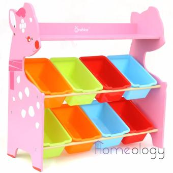 Kids Toy Rack Organizer Cabinet Storage Children Book Shelf Type A