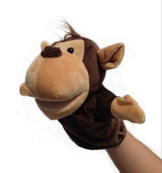 Harga Baby Kid Animal Hand Glove Puppets Doll Monkey - intl