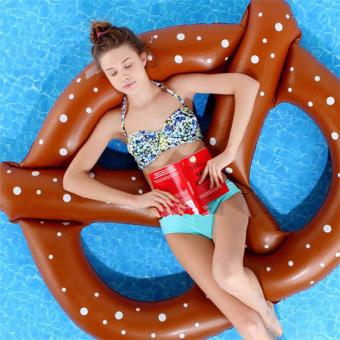 Harga 1.5X1.4M Inflatable Doughnut Pool Float inflatable water float Swimming Ring Air Rafts - intl