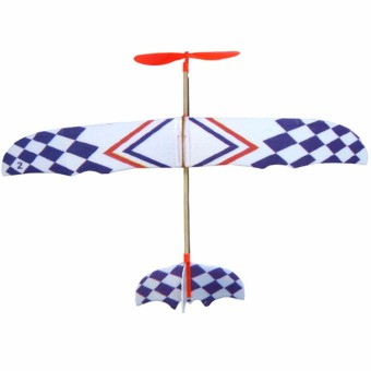 DIY Foam Elastic Powered Glider Plane Thunderbird Flying Model Aircraft Toy - Intl