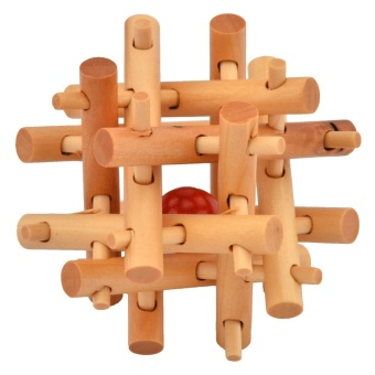 Harga 360WISH 12 Thick & Thin Wooden Sticks Kong Ming Lock Primary Color (EXPORT)