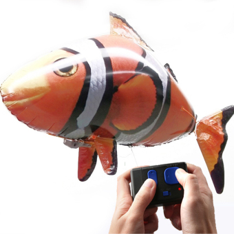 Remote Control Flying ClownFish Inflatable Toy Sky Swimmers . Funny RC Model Swimming In The Air Plane Model Children Gifts - intl