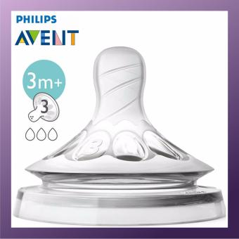 Harga Philips Avent Natural Teat 3 Hole Medium Flow 2pcs per Set x3 Pack