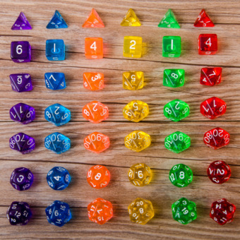 Harga 14pcs RPG Digital Dice Set with Pearlized Effect for Boards Games Dadi Gioco
