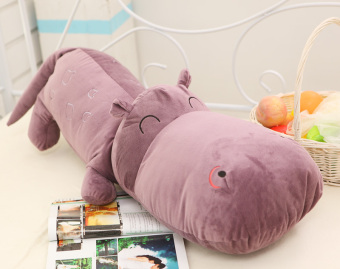Harga Children's gift cartoon hippo pillow plush toy doll cloth doll hippocampus doll birthday cloth doll girlfriend