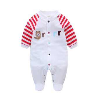 Spring baby clothes baby newborn children Siamese clothes romper spring and  summer cotton 0-3 c8310a09b9