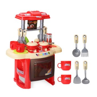 Kitchen Cooking Toy Play set for Children and parents(Red)