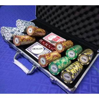 Harga Monte Carlo Golden Edition Poker Chip set (300 pcs)(Silver)