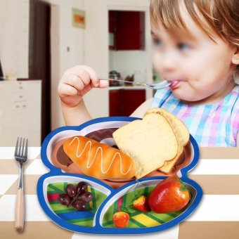 Harga Kids Feeding Tableware Dinning Table Food Tray Plate Monkey - intl