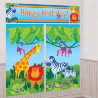 Harga Safari Happy Birthday Scene Setter Banner