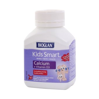 Harga Bioglan Kids Smart Calcium Plus Vitamin D3 Strawberry Milkshake 50pcs