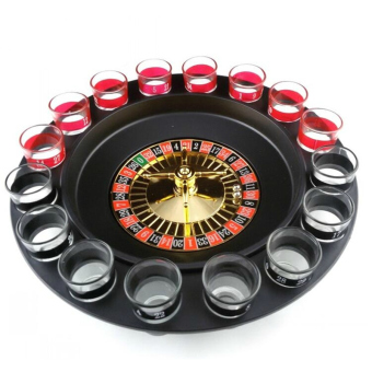 Harga Russian Roulette Spinner Toy Party Games with 16pcs Glass Cups Box Packing Novelty Gift Board Game