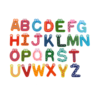 Baby toys 26pcs Letters Kids Wooden Alphabet Fridge Magnet Child Educational Toy - intl