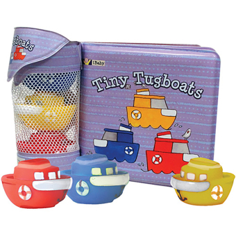 Harga innovativeKids Tiny Tugboats Book and Bath Toys