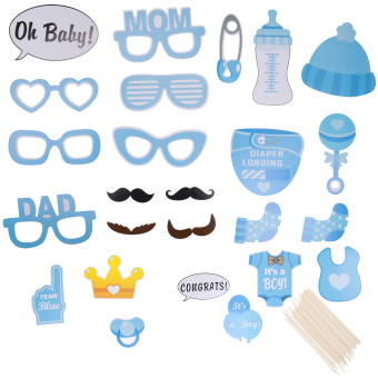 IT'S A BOY! Photo Booth Props Baby Shower Party Decor