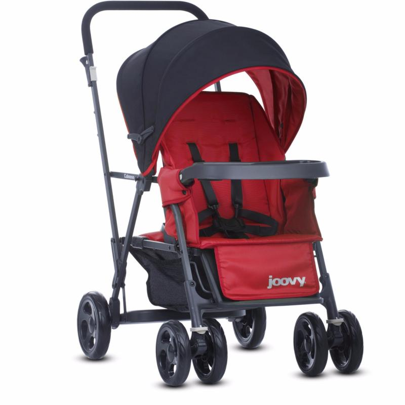 Joovy Caboose Graphite (Red) - Double Stand-on Tandem Stroller Singapore