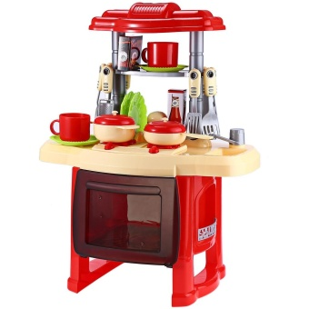 Kids Kitchen Cooking Pretend Role Play Toy Set with Light Sound Effect - intl