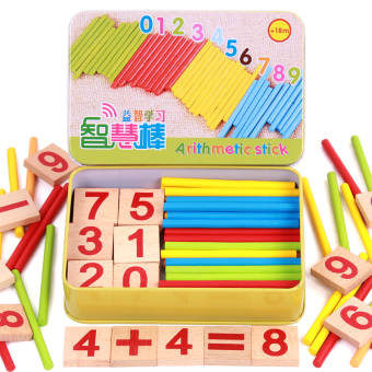 Kids Round Counting Stick Learning Box