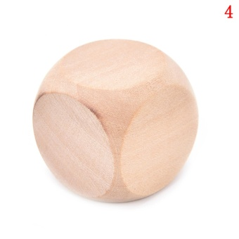 Large wooden wooden dice white dice Tabletop Games size :3cm - intl