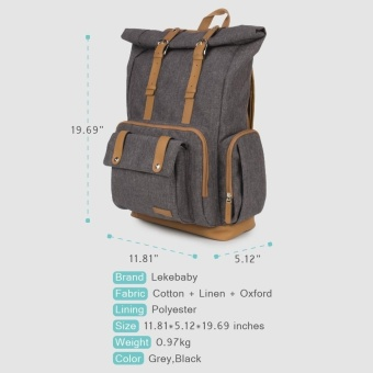Lekebaby Diaper Bag Dad Nappy Backpack (Coffee) - 2