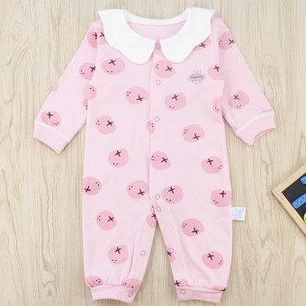 Li infant music autumn baby clothes long-sleeved newborn children Siamese clothing Spring and Autumn baby cotton romper 3-24 a month