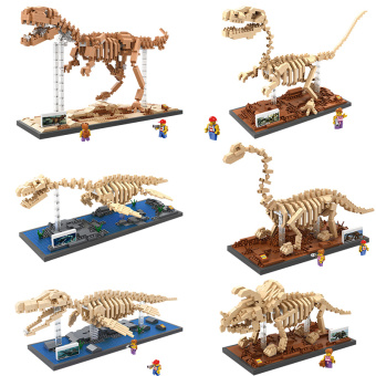 Loz dinosaur micro-drilling small particles Fossil skeleton model