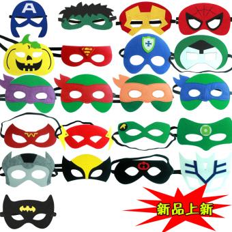Man Xiang Halloween children's Superman Iron Man Spider Man Green Giant Batman us Captain mask goggles - 2