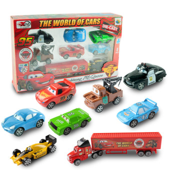 McQueen transport car container car children alloy toy car Simulation Model