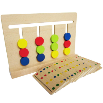 Montessori's four color game fun slide game rack toys