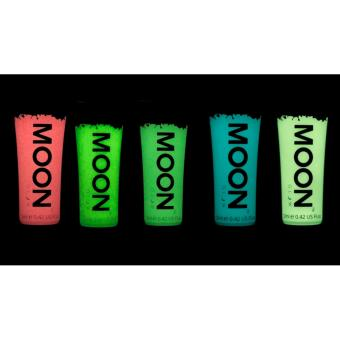 Moon Glow Face Paint Glow in the Dark Set of 5