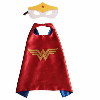 Harga New Kids Halloween Costume Wonder Woman Cape Cloak & Mask Set