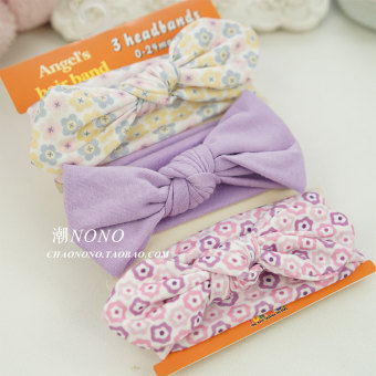Newborn Baby Bowknot 100% Cotton Headband