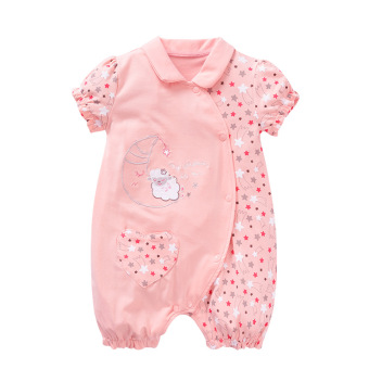Newborn children wear for men and women baby clothes 0-3-6 a monthcotton autumn short-sleeved baby leotard climbing clothes rompertide