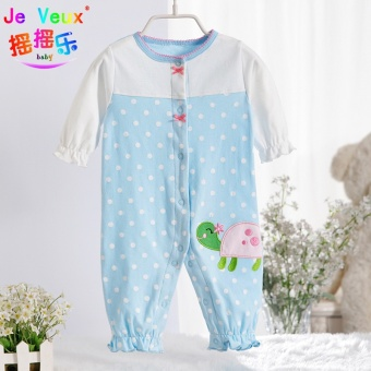 Newborn cotton spring and summer children's for men and women crawling clothes