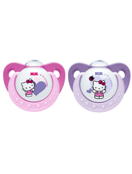 NUK Hello Kitty Orthodontic Soother - Silicone (0-6m)