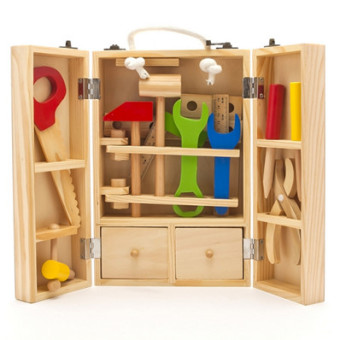 Nut combination repair puzzle removable toy tool box