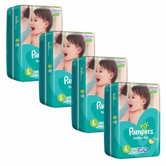 Pampers Baby Dry Diapers L46's (9-14kg) X 4 Packs