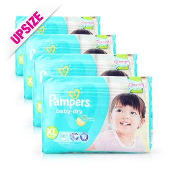 Pampers Baby Dry Diapers XL (10-17kg) 40pcs x 4 packs