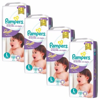 Pampers Premium Care Tape Diapers L40s x 4 Packs (9-14kg) (Japan Version)