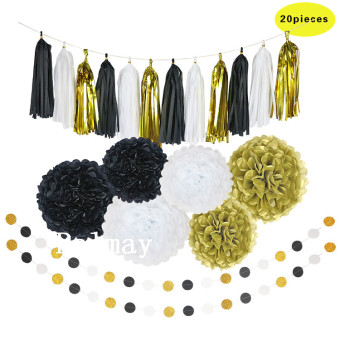 Paper Gold birthday party decoration supplies