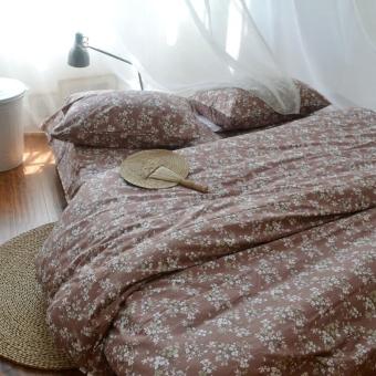 Pastoral floral quilt cotton twill cotton bed sheets single double quilt 1.5 1.8
