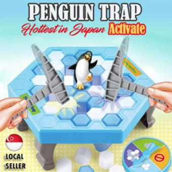 Penguin Trap Crush Ice Game | Building Block | Family Game [JapanHottest Game]