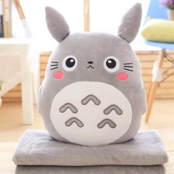 Pillow blanket three one air conditioning blanket Totoro