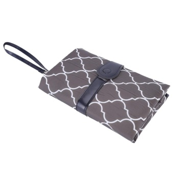 Portable Baby Diaper Changing Pad Travel Nappy Bag Gray - intl