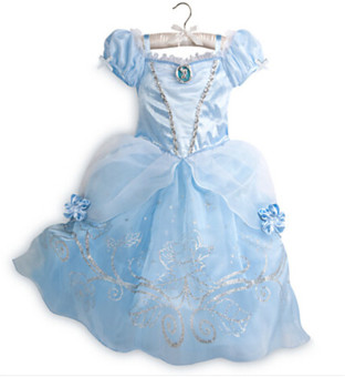 Princess Dress Children Clothing Girl's Dress Light blue