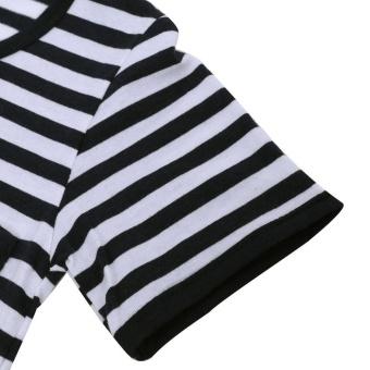 Summer Clothing Sets Kids Pants + Top Navy Stripe Tracksuit (90) -intl - 5
