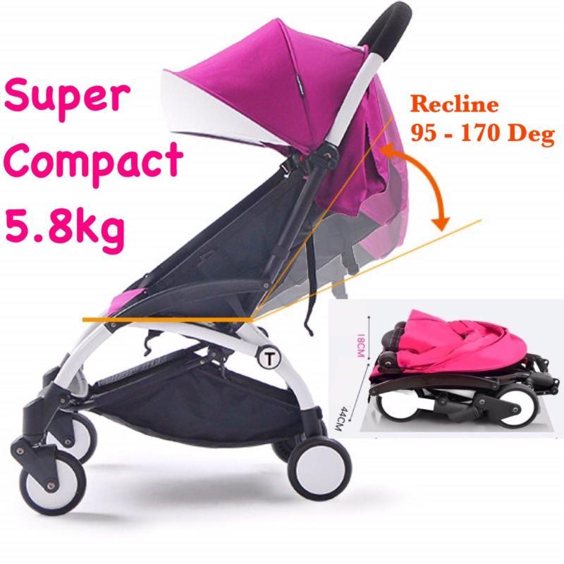 Super Compact Cabin Size Topbi Bibi Love Stroller / Pram 5.8kg - Pink Singapore