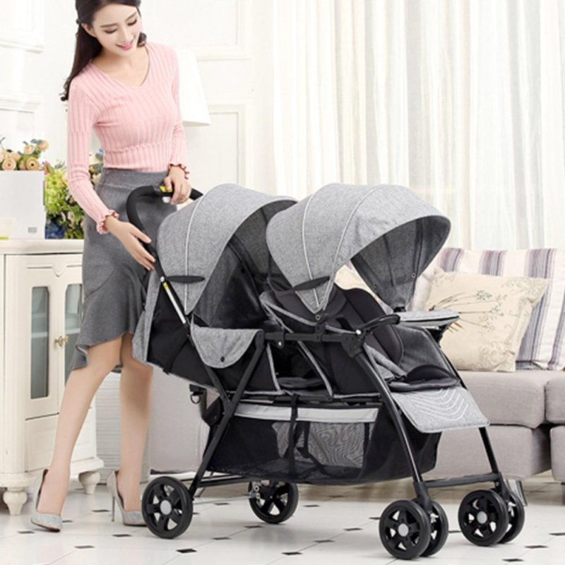 T2 front and back twin pram Singapore