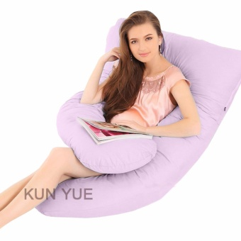 Harga U shaped Body Support Mummy Pregnancy and Nursing Pillow - intl